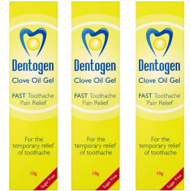 Dentogen Clove Oil Gel - 10g (Pack of 3)