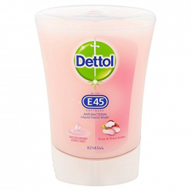 Dettol No-Touch Refill Anti-Bacterial Hand Wash E45 Rose & Shea Butter - 250ml