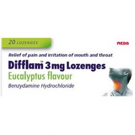 Difflam Eucalyptus - 20 Lozenges 3mg