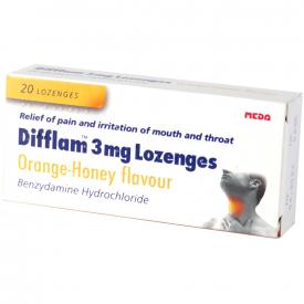 Difflam Orange & Honey - 20 Lozenges 3mg