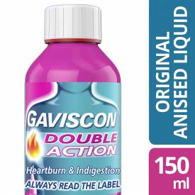 Gaviscon Double Action Aniseed Flavoured Suspension – 150ml