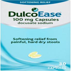 Dulcolax Dulcoease Stool Softener 100mg – 30 Capsules