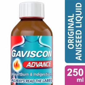 Gaviscon Advance Aniseed Flavoured Suspension – 250ml
