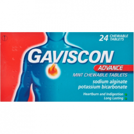 Gaviscon Advance Chewable Mint – 24 Tablets (Pack of 5)