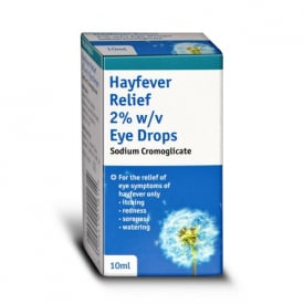 Hayfever Relief Allergy Eye Drops 2% w/v - 10ml (Brand May Vary)