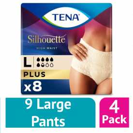 Tena Silhouette Plus Lady Pants Large 8 Pack - (Case Of 4)