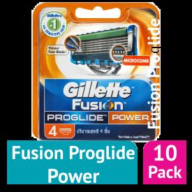 Gillette Fusion ProGlide Power Blades x 4 - (Case Of 10)