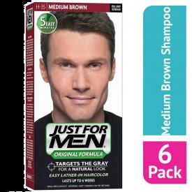 Just For Men Shampoo Hair Colourant Medium Brown - (Case Of 6)