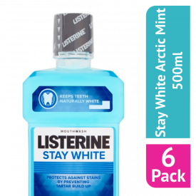 Listerine Stay White Arctic Mint Mouthwash 500ml - (Case Of 6)