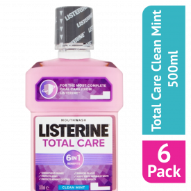 Listerine Total Care Clean Mint Mouthwash 500ml - (Case Of 6)
