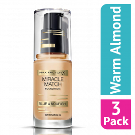 Max Factor Miracle Match Foundation Warm Almond - (Case Of 3)