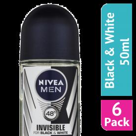 Nivea For Men Black & White Original Roll-On Deodorant - (Case Of 6)