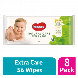 Huggies Natural Care Extra Care Baby Wipes - (Case Of 8)