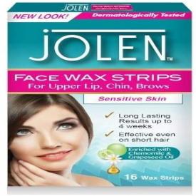 Jolen Facial Wax Strips (16 Strips)