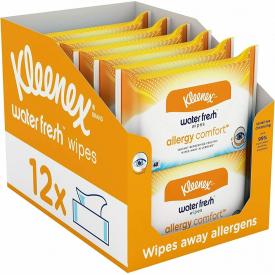 Kleenex Allergy Comfort Waterfresh Wipes - 12 Packs - 480 Individual Wipes