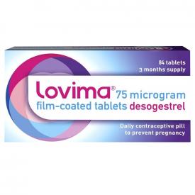 Lovima (Desogestrel) Mini-Pill 75mcg - 84 Tablets