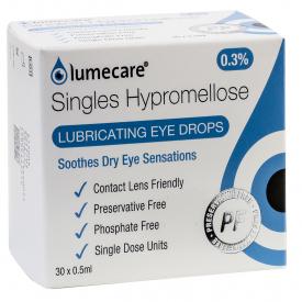 Lumecare Hypromellose Eye Drops 0.3% Single Doses W/W 0.5ml – 30 Pack