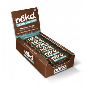 Nakd Cocoa Coconut Bar 35g - Pack of 18