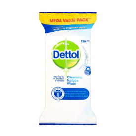 Dettol Antibacterial Surface Cleaning Wipes - Pack of 126