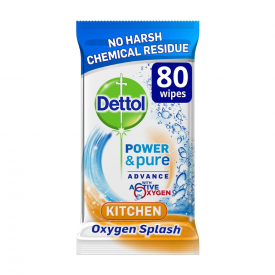 Dettol Power and Pure Kitchen Wipes - Pack of 80