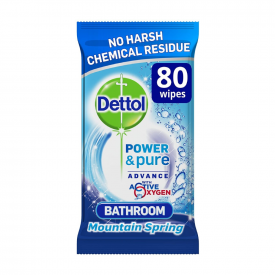Dettol Power and Pure Bathroom Cleaning Wipes - Pack of 80