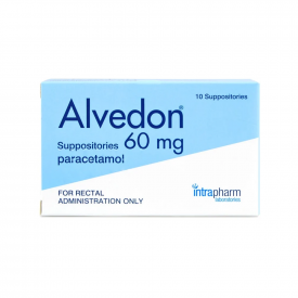 Alvedon Paracetamol Suppositories 60mg - Pack of 10