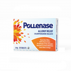 Pollenase Chlorphenamine Maleate - 30 x 4mg Tablets