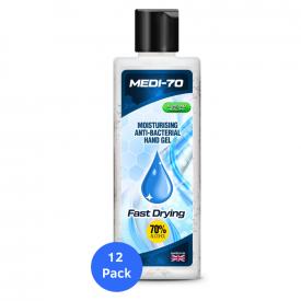 Medi-70 Fast Drying Antibacterial Hand Gel 200ml - Case of 12