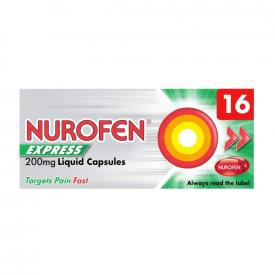 Nurofen Express 200mg Liquid Capsules - 16 Pack