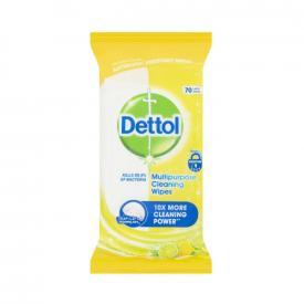 Dettol Multipurpose Cleaning Citrus Wipes - 70 Pack