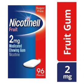 Nicotinell Fruit 2mg Medicated Chewing Gum Regular Strength – 96 Pieces