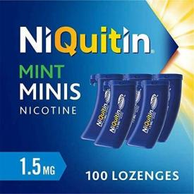 NiQuitin Minis Mint 1.5mg Nicotine - 100 Lozenges