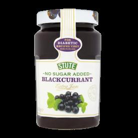 Stute No Added Sugar Blackcurrant Extra Jam - 430g