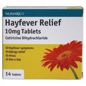 Numark Hayfever Relief 10mg Tablets - 14 Tablets