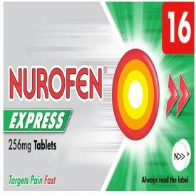 Nurofen Express 256mg - 16 Capsules