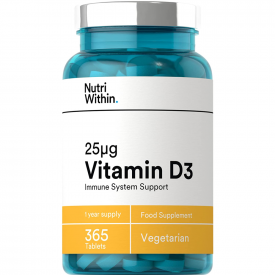 Nutri Within Vitamin D3 25μg - 365 Tablets