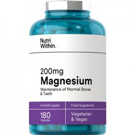 Nutri Within Magnesium Capsules 200mg - 180 Capsules