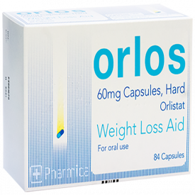 Orlos (Orlistat) Weight Loss Capsules - 84 x 60mg (3 Pack)