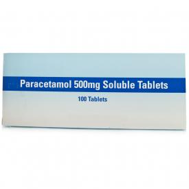 Paracetamol Soluble Tablets - 100 x 500mg (Brand May Vary)