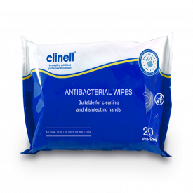 Clinell Antimicrobial Hand & Surface Wipes - Pack of 20