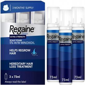Regaine For Men Extra Strength Scalp Foam Triple Pack 3 x 73ml