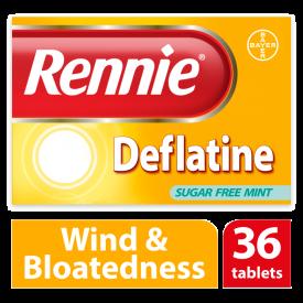 Rennie Deflatine Sugar Free Mint – 36 Tablets