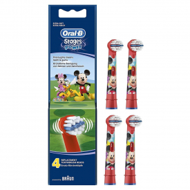 Oral-B Stages Power Toothbrush Heads x 4 - Disney Mickey Mouse