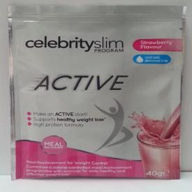 Celebrity Slim Active Single Sachet - Strawberry 40g