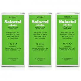 Salactol Wart Paint 10ml  - (Pack of 3)