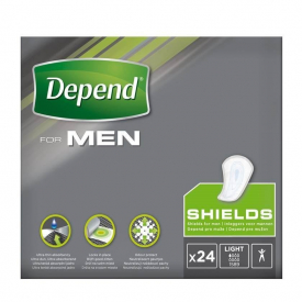 Depend For Men Incontinence Shields - 24