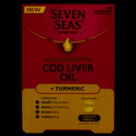 Seven Seas Cod Liver Oil & Turmeric - 60 Capsules