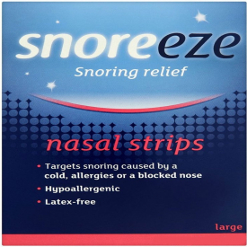 Snoreeze Large Snoring Relief Nasal Strips - Pack of 10