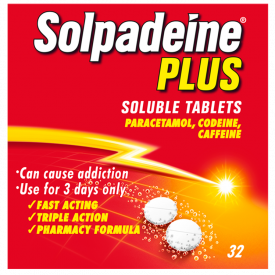 Solpadeine Plus (Codeine/Paracetamol) - 32 Soluble Tablets