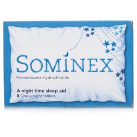 Sominex Sleep Aid 20mg (Promethazine) - 8 Tablets